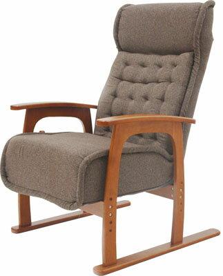 ヤマソロコイルバネ高座椅子83-805ブラウン