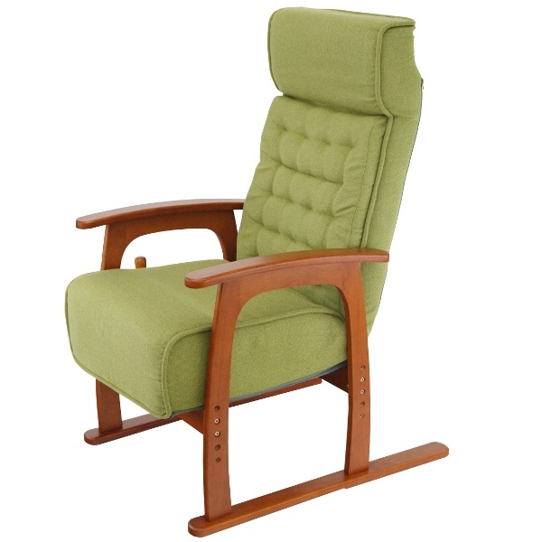 ヤマソロコイルバネ高座椅子83-806グリーン