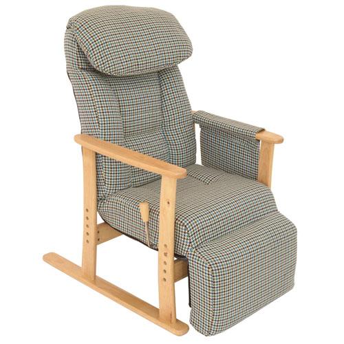 ヤマソロフットレスト付高座椅子83-818グリーン