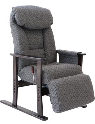 ヤマソロフットレスト付高座椅子83-835グレー