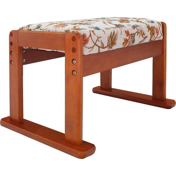 ヤマソロ高座椅子対応オットマンスツール83-842ベージュフラワー