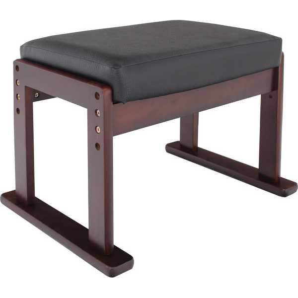 ヤマソロ高座椅子対応オットマンスツール83-843ブラックレザー