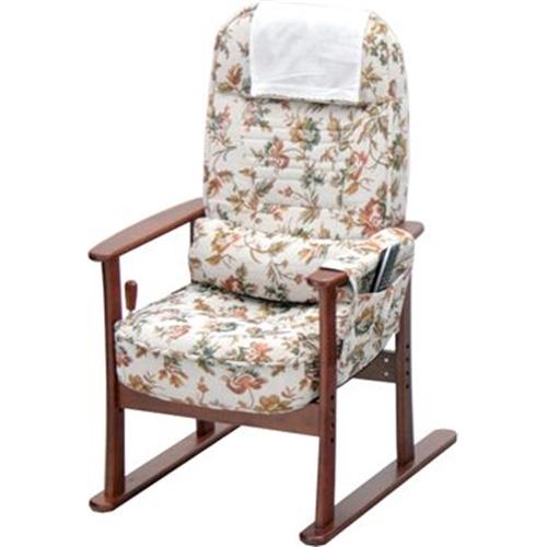 ヤマソロ肘付き高座椅子83-884ベージュフラワー