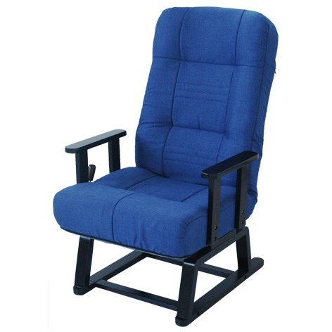 ヤマソロ回転高座椅子83-992藍色