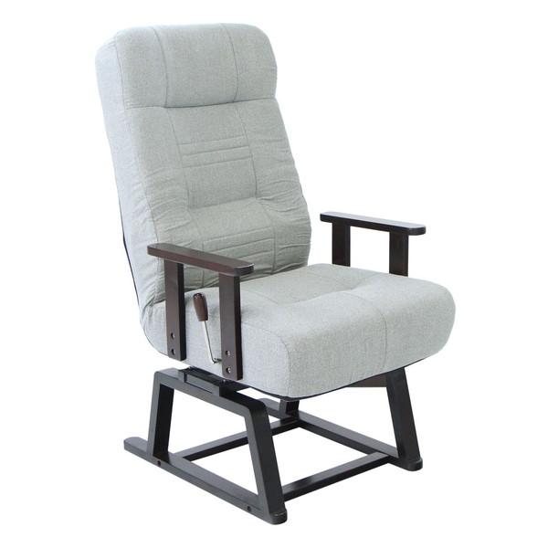 ヤマソロ回転高座椅子83-993灰色