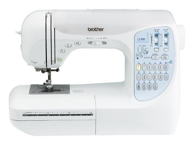 【販売終了(色違いピンクLS701は在庫僅少)】[5年保証] [フットコントローラー&12色糸セット付]brother ブラザー 家庭用ミシン  LS700