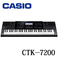 【販売終了】CASIO カシオ ハイグレードキーボード《61鍵》 CTK-7200