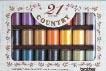 ブラザー カントリー糸21色刺繍糸セットCTS21
