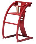 【入荷未定】イーチェアー e-chair ベビーチェア クッション付き  レッド