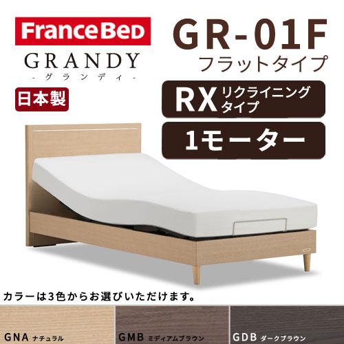 【フレームのみ】【開梱設置無料】フランスベッド グランディ GR-01F RX(リクライニングタイプ) 1モーター シングルサイズ(S)【代引き不可】