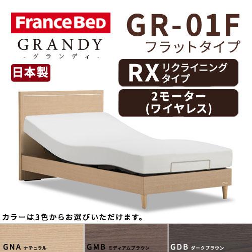【フレームのみ】【開梱設置無料】フランスベッド グランディ GR-01F RX(リクライニングタイプ) 2モーター ワイヤレス シングルサイズ(S)【代引き不可】