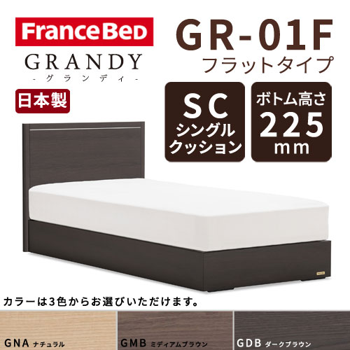 【フレームのみ】フランスベッド グランディ GR-01F SCタイプ ボトム高さ22.5cm シングルサイズ(S)【都内・隣接県は開梱設置無料(日曜・祝日配送除く)】【代引き不可】