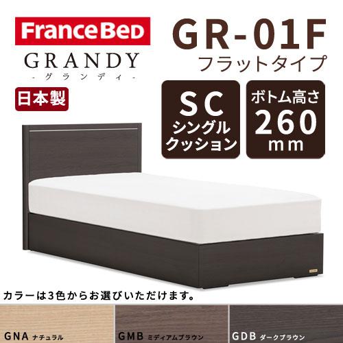 【フレームのみ】フランスベッド グランディ GR-01F SCタイプ ボトム高さ26.0cm シングルサイズ(S)【都内・隣接県は開梱設置無料(日曜・祝日配送除く)】【代引き不可】
