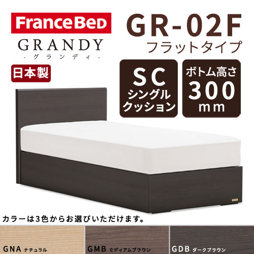 【フレームのみ】フランスベッド グランディ GR-02F SCタイプ ボトム高さ30.0cm ダブルサイズ(D)【都内・隣接県は開梱設置無料(日曜・祝日配送除く)】【代引き不可】