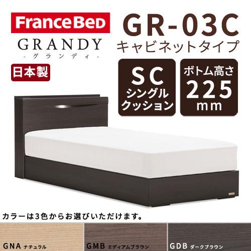 【フレームのみ】フランスベッド グランディ GR-03C SCタイプ ボトム高さ22.5cm セミダブルサイズ(M)【都内・隣接県は開梱設置無料(日曜・祝日配送除く)】【代引き不可】