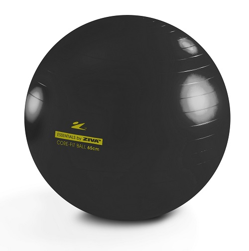 【即納】【数量限定カラー】 HOME GYM ZIVA ジーヴァ アンチバースト コアフィットボール 65cm ブラック ZES-CFCB-0065<br>ジョンソン ホライゾンフィットネス HORIZON FITNESS 送料無料