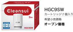 三菱レイヨン交換用カートリッジスーパーハイグレードタイプHGC9SW(2個入)