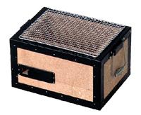 【送料無料】鍵主工業 BQ8F 珪藻土貼り合せコンロ 金網付き 2~4人用【納期2~3週間】