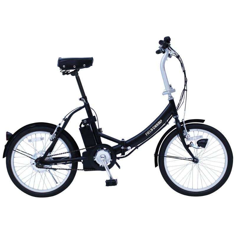 【2019年6月初旬頃入荷予定】ミムゴ ノーパンク電動アシスト20インチ折り畳み自転車 FIELD CHAMP(フィールドチャンプ) KH-DCY310NE マットブラック【代引き・時間指定不可】