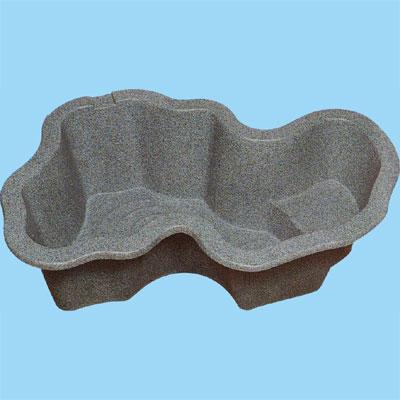 『先振込送料無料』 タカラ工業 L600L 左向き (深型)庭園埋設型 みかげ調プラ池 ◆代引き・時間指定不可
