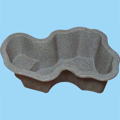 『先振込送料無料』 タカラ工業 L600R 右向き (深型)庭園埋設型 みかげ調プラ池 ◆代引き・時間指定不可