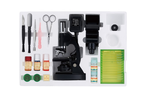ビクセン 顕微鏡 学習用顕微鏡セット ミクロショット600 ミクロショットシリーズ 21202-6【代金引換不可】