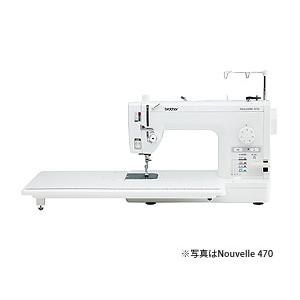 [5年保証][12色糸セット付]ブラザー brother 直線縫い専用ミシン ヌーベル470 補助テーブル・フットコントローラー・ソフトケース付