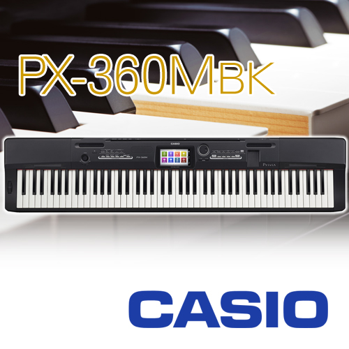 【ペダル1本付】CASIO カシオ計算機 / ステージピアノ キーボード エレキピアノ デジタルピアノ 電子ピアノ Privia / PX-360MBK ディープブルー調【送料無料】