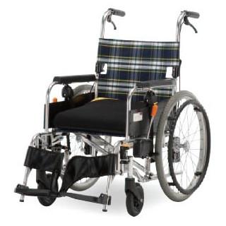 【都内・近接県は軒先渡し送料無料】フランスベッド 自動ブレーキ付き車椅子 セーフティオレンジ(SAFETYオレンジ)【代引き不可】