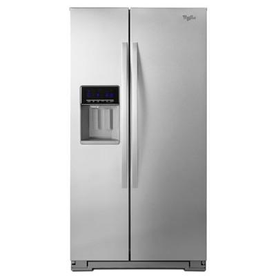 【メーカー在庫限り】ワールプール/Whirlpool アメリカ大型冷蔵庫(冷凍冷蔵庫) 両開き WRS571CIDM ステンレス