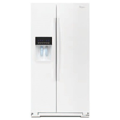 【販売終了】ワールプール/Whirlpool アメリカ大型冷蔵庫(冷凍冷蔵庫) 両開き WRS571CIDW ホワイト