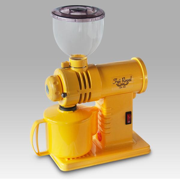 【代引手数料無料】【送料無料】フジローヤル みるっこDX R-220 スタンダード 黄 イエロー 富士珈機 コーヒーミル